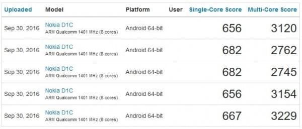 诺基亚D1C曝光:骁龙430+安卓7.0的照片 - 1
