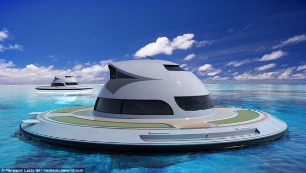 意设计师设计UFO形状游艇 两年后实现飞行功能的照片 - 10