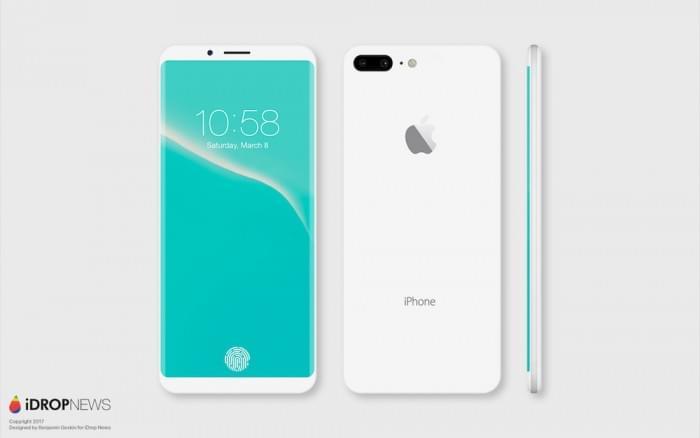 设计师绘制出亮黑色和亮白色iPhone 8概念渲染图的照片 - 5