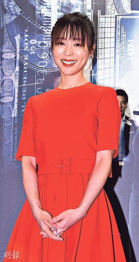 1-03-张静初称赞郭富城的演技愈来愈好。