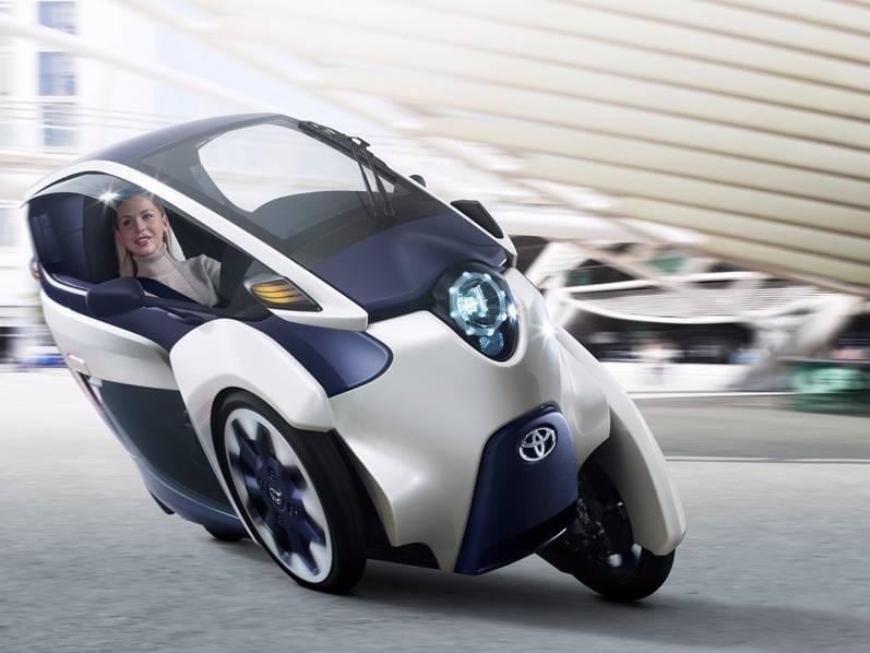 试驾丰田i-Road电动汽车:重量只有300KG的照片 - 12