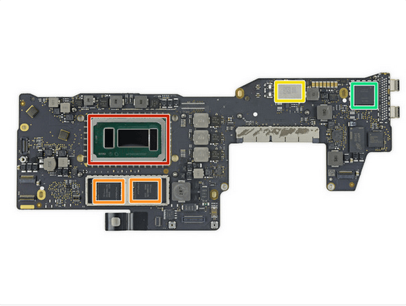 13英寸入门级新MacBook Pro拆解 很难修复的照片 - 33