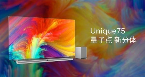 乐视75寸量子点电视Unique75发布:19999元的照片 - 1