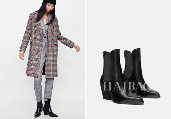 Zara牛仔高跟短靴:?499