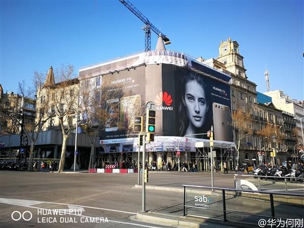 华为P10刚发布就被刷爆欧洲各大街头的照片 - 1