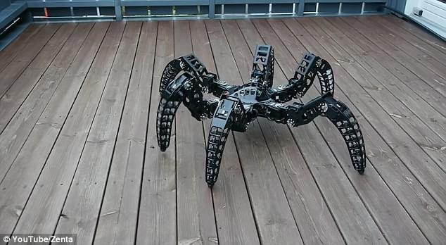 体型轻盈走位灵活 工程师制作狼蛛全地形机器人的照片 - 2