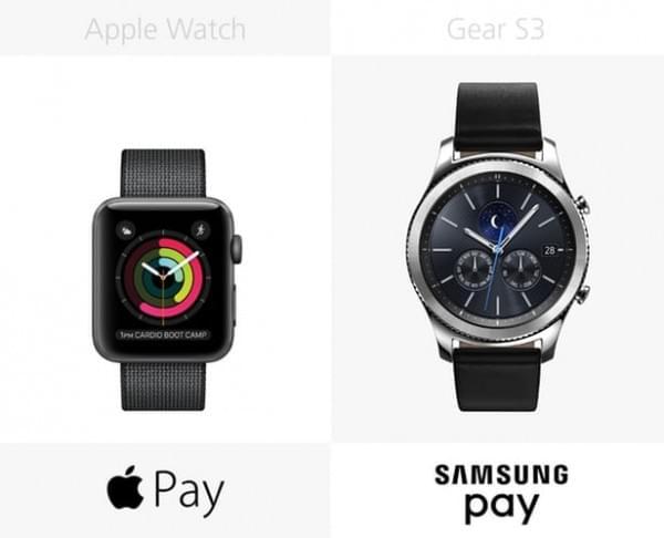 Apple Watch Series 2和三星Gear S3规格参数对比的照片 - 18