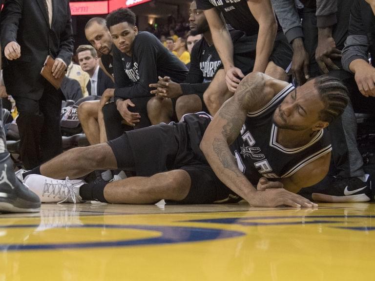 LOGO男:萊納德受傷純屬運氣差 踩腳真的無法避免